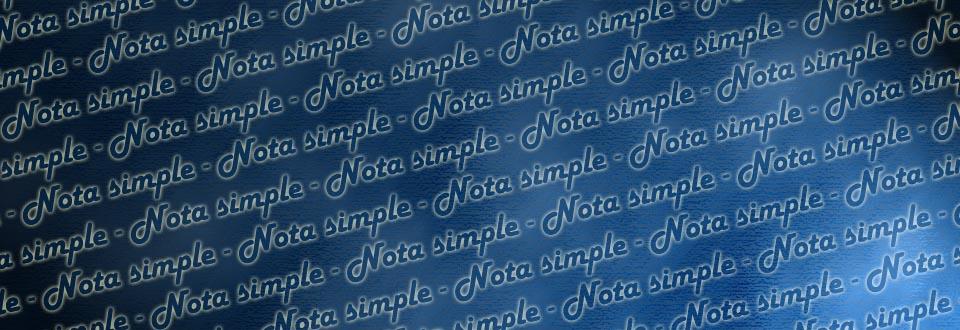 nota simple